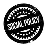 Social Policy rubber stamp. Grunge design with dust scratches. Effects can be easily removed for a clean, crisp look. Color is easily changed Royalty Free Stock Photo