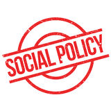 Social Policy rubber stamp. Grunge design with dust scratches. Effects can be easily removed for a clean, crisp look. Color is easily changed Stock Photo
