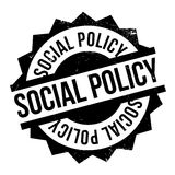 Social Policy rubber stamp. Grunge design with dust scratches. Effects can be easily removed for a clean, crisp look. Color is easily changed Royalty Free Stock Photography