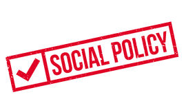 Social Policy rubber stamp Royalty Free Stock Photo