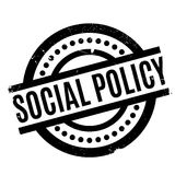 Social Policy rubber stamp Royalty Free Stock Image