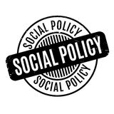 Social Policy rubber stamp Stock Image