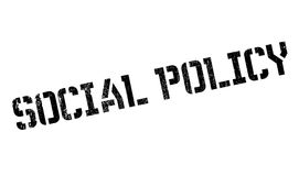 Social Policy rubber stamp Stock Photos