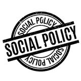 Social Policy rubber stamp Royalty Free Stock Photos