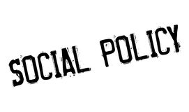 Social Policy rubber stamp Stock Images
