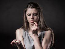 Social problems woman Royalty Free Stock Photography