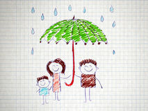 The social protection of the family. Stock Photo