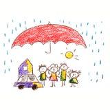 Social protection. Happy family. Royalty Free Stock Photo