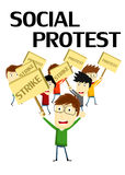 Social Protest Stock Photo