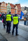 Social protest. Wroclaw, Poland, January, ninth , social protest versus devastation  and destruction of democracy and constitution, sad day for society Royalty Free Stock Image