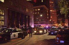 2015 Social Protests In Downtown Oakland Royalty Free Stock Photos