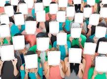Social que recolhe o conceito da sociedade de uma comunicação da tabuleta de Digitas Foto de Stock Royalty Free