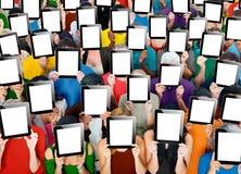 Social que recolhe o conceito da sociedade de uma comunicação da tabuleta de Digitas Imagens de Stock Royalty Free