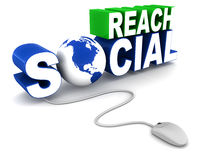 Social reach Stock Images