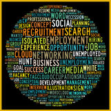 Social recruiting concept. In word tag cloud Royalty Free Stock Photography