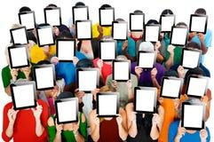Social recueillant le concept de société de communication de Tablette de Digital Photographie stock libre de droits