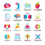 Social Relationship Logo Icons Set Stock Photo