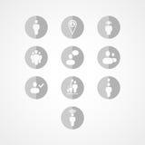 Social rengöringsduksymbol Arkivfoton