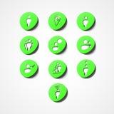 Social rengöringsduksymbol Fotografering för Bildbyråer