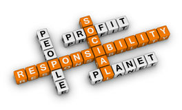 Social responsibility. (orange-white crossword puzzles series Stock Image