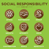 Social Responsibility Outline Icon Set Royalty Free Stock Images