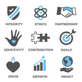 Social Responsibility Solid Icon Set Royalty Free Stock Image