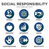 Social Responsibility Solid Icon Set Royalty Free Stock Photo