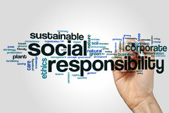 Social responsibility word cloud Royalty Free Stock Images