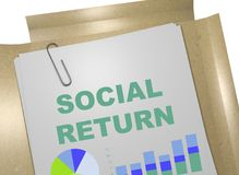 Social Return concept. 3D illustration of SOCIAL RETURN title on business document Royalty Free Stock Photo