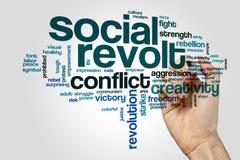 Social revolt word cloud Stock Photography