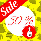 Social sale banner and ad web template. Royalty Free Stock Image