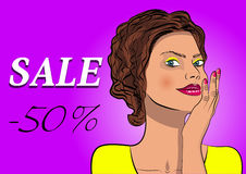 Social sale banner and ad web template. Royalty Free Stock Photo