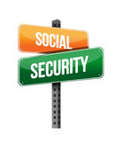 Social security. Illustration design over a white background Stock Photo