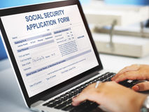 Social Security Application Form Concept royalty free stock photography
