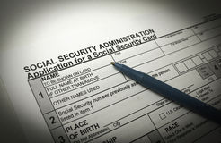 Social Security Application Stock Image