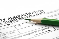 Social security card royalty free stock photo