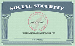 Social Security Card. Replica of a United States Social Security Card