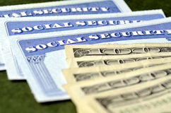 Social Security Card for Identification Stock Photo