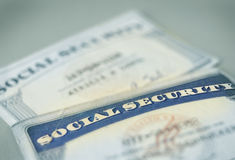 Social Security cards Stock Image
