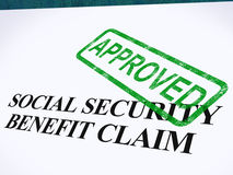 Social Security Claim Approved Stamp stock photo