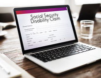 Social Security Disability Claim Concept Stock Photography