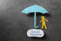 Social Security message Royalty Free Stock Photos