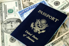Social security and passport Royalty Free Stock Photography