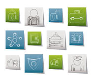 Social security and police icons Stock Photos