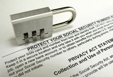 Social Security Protection Royalty Free Stock Photos