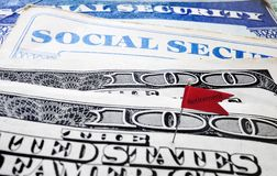 Social Security retirement flag Stock Photo