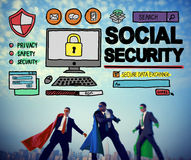 Social Security Welfare Retirement Payment Concept. Social Security Welfare Retirement Payment Stock Images