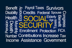 Social Security Word Cloud Stock Photography