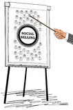 Social selling concept drawn on a flipchart vector illustration