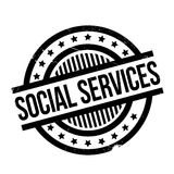 Social Services rubber stamp. Grunge design with dust scratches. Effects can be easily removed for a clean, crisp look. Color is easily changed Stock Photos